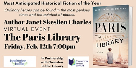 Author Janet Skeslien Charles: The Paris Library Virtual Book Discussion tickets