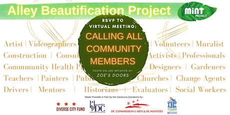 Ally Beautification Project: Virtual Community Meeting! tickets