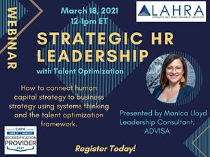 Strategic HR Leadership with Talent Optimization tickets