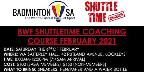 Shuttletime Coaching Course tickets
