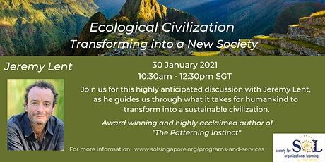 Moving Toward an Ecological Civilization with Jeremy Lent tickets