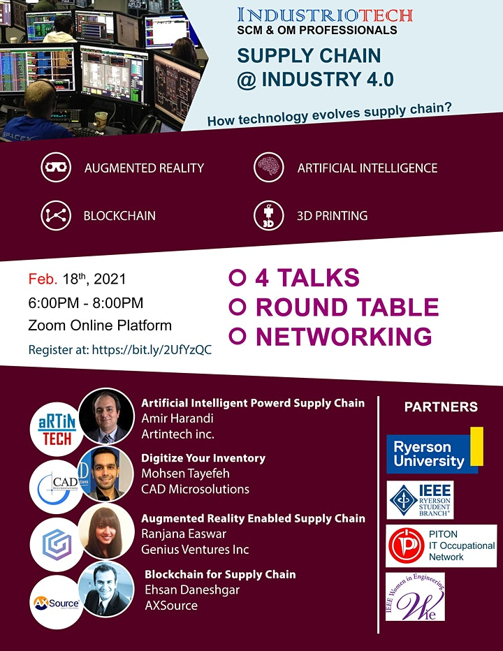 IndustrioTech©  Talk Series: Supply Chain @ Industry 4.0 image