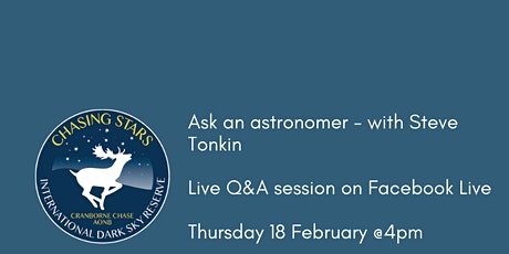 Ask an astronomer - with Steve Tonkin tickets