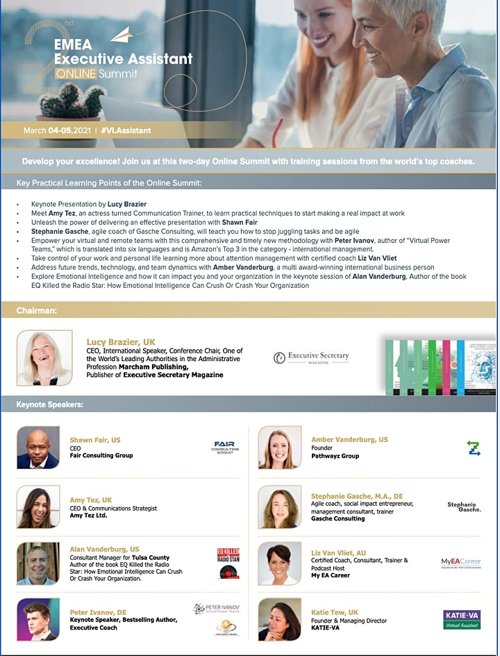 2nd EMEA Executive Assistant Online Summit image