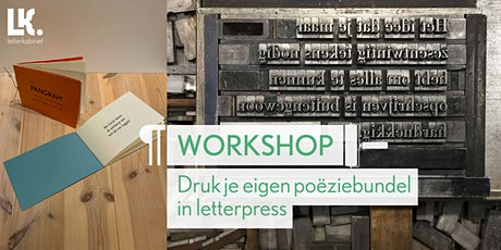 4-daagse workshop: Poëziebundel in letterpress tickets