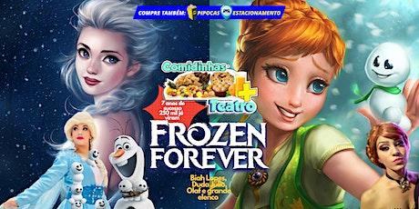 DESCONTO! Comidinhas + Teatro: Frozen Forever ingressos