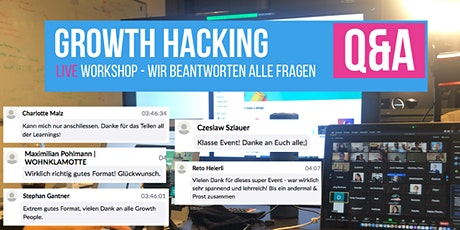 Growth Hacking Q&A Workshop LIVE Tickets