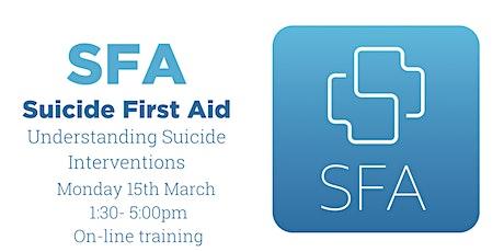 Suicide First Aid Lite - Online tickets