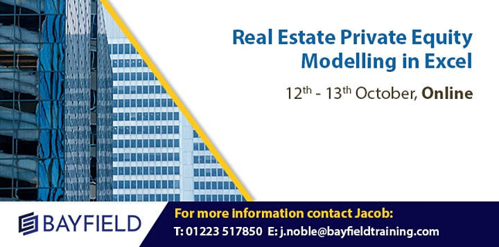 Bayfield Training - Real Estate Private Equity Modelling - Virtual Course image