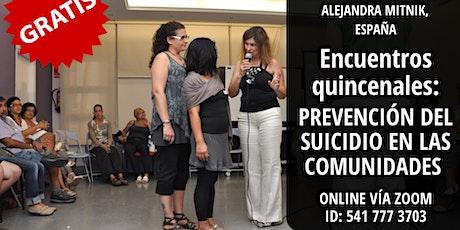 Tratamiento grupal sobre los efectos del suicidio en la comunidad entradas