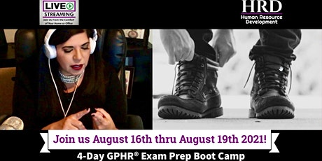 4-Day Global Professional in Human Resources (GPHR®) Exam Prep Boot Camp biglietti