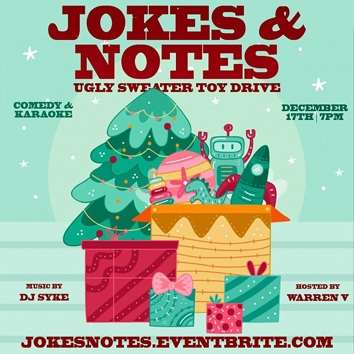 Jokes & Notes Ugly Sweater Toy Drive image