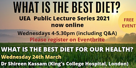 What is the best diet for our health? tickets