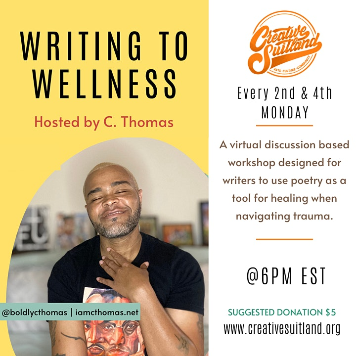 WRITING TO WELLNESS: Poetry & Discussion for Navigating Trauma image