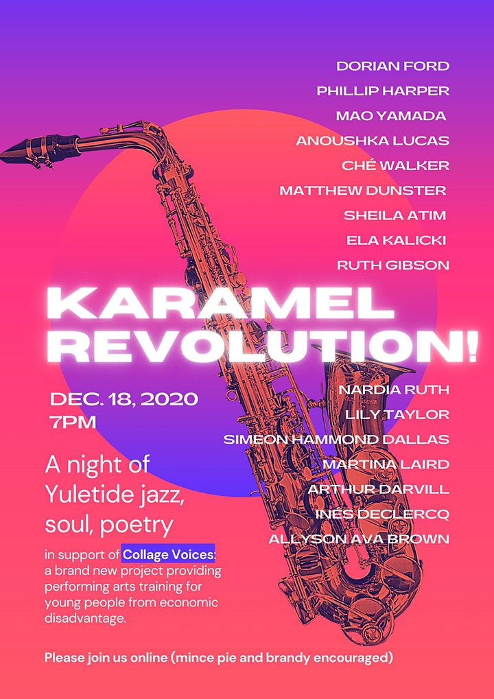 Karamel Revolution - A night of Yuletide jazz, soul and poetry image