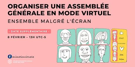 Organiser une assemblée générale virtuelle billets