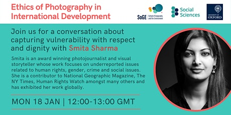 Photo Ethics in International Development: A conversation with Smita Sharma tickets