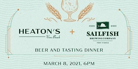 Sailfish Gastropub Style Beer Pairing dinner at Heaton's Vero Beach! tickets