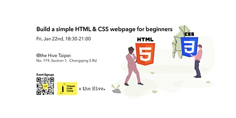 Build a simple HTML & CSS Webpage for Beginners tickets