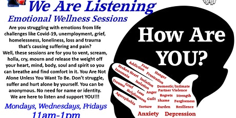 SISFI's How Are You? We Are Listening Emotional/Mental Wellness Sessions tickets
