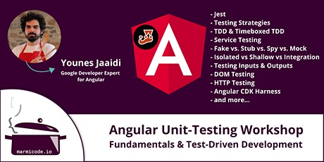 Angular Unit-Testing Workshop - Fundamentals & Test-Driven Development tickets