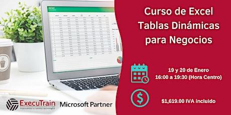 Curso Online Excel Tablas Dinámicas para Negocios entradas
