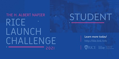 STUDENT 2021 H. Albert Napier Rice Launch Challenge – Startup Competition