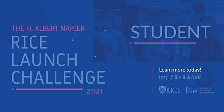 STUDENT 2021 H. Albert Napier Rice Launch Challenge - Startup Competition tickets