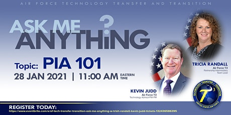 AF Tech Transfer & Transition Ask Me Anything w/ Trish Randall & Kevin Judd tickets
