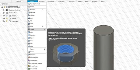 Introduction to Fusion360: 3D Printing and Laser Cutting tickets