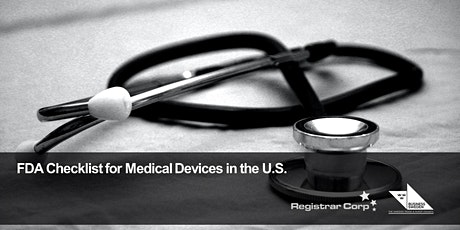 FDA Checklist for Medical Devices in the U.S. tickets