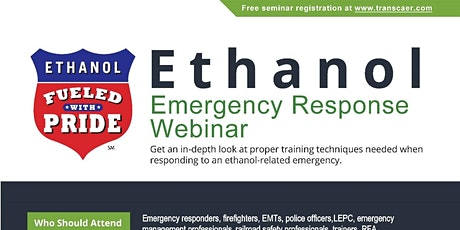 Ethanol Emergency Response Webinar tickets