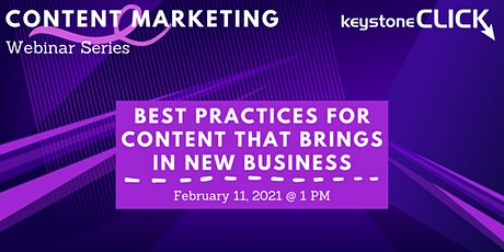 Best Practices for Content that Brings in New Business tickets