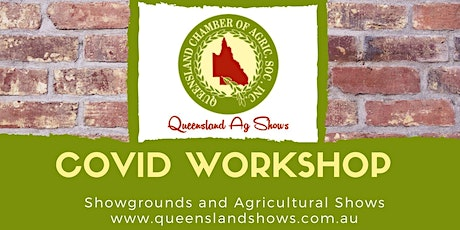 COVID Workshop for Showgrounds and Agricultural Shows tickets