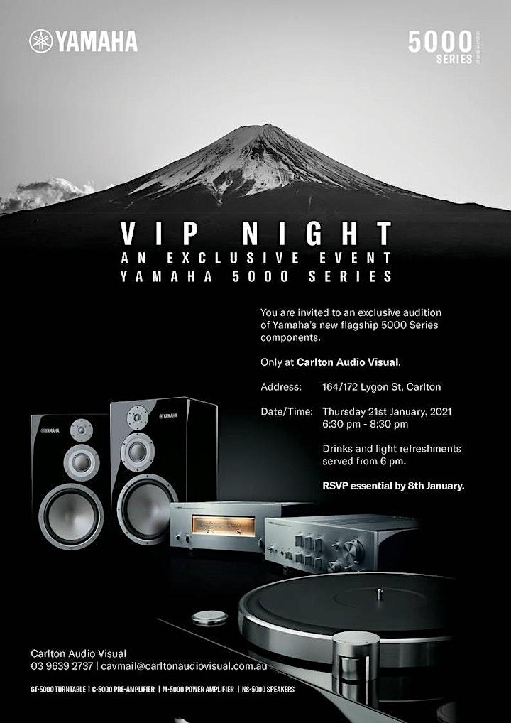 Yamaha 5000 Series VIP NIGHT 2 hosted by Carlton Audio Visual image