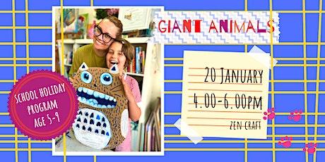 GIANT ANIMALS - school holidays fun workshop (5-9 y.o.) tickets