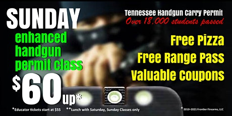 Sunday Enhanced Handgun Carry Permit Class - Jan, Feb, Mar tickets