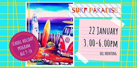 SURF PARADISE - school holidays workshop (9-14 y. o.) tickets