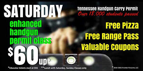 Saturday Enhanced Handgun Carry Permit Class - Jan, Feb, Mar tickets