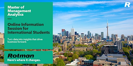 Master of Management Analytics Info Session for International Students tickets
