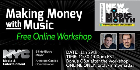 NYC Making Money With Music Workshop tickets