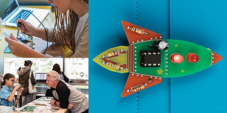 Workshop: Learn to Solder a Badge or Christmas Tree! Seniors, Adults + Kids tickets