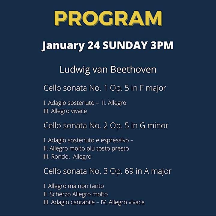 Beethoven Cello Sonatas + Variations Concert Series image