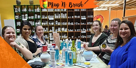 Adults Sip 'n Paint Ceramic Painting evening tickets