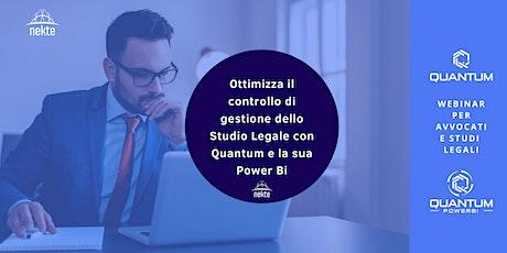 Ottimizza il controllo di gestione dello Studio Legale con Quantum biglietti