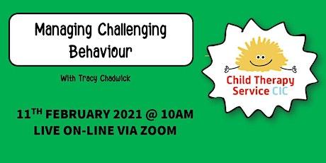 Managing Challenging Behaviour - WEBINAR tickets