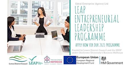 LEAP Entrepreneurial Leadership Programme - Initial 3-Part Online Workshop tickets