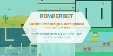 Bomberbot: Cursus Game Design & Development  | 10-13 jaar | 8 weken (NL) tickets