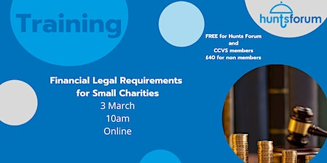 Financial Legal Requirements for Small Charities tickets