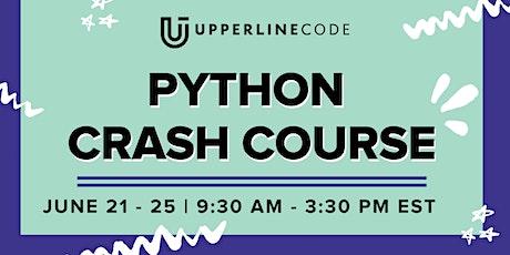 Python Crash Course | June 21-25 (Upperline Code Virtual Class) tickets